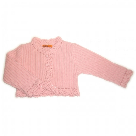 Mayoral baby girls cardigan in pink or ivory