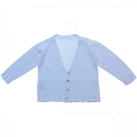 Baby Boys Soft Cotton Baby Blue Cardigan