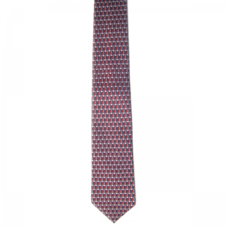 Boy tie red square with white circles