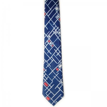 Boy tie multi blue with diaganal strips