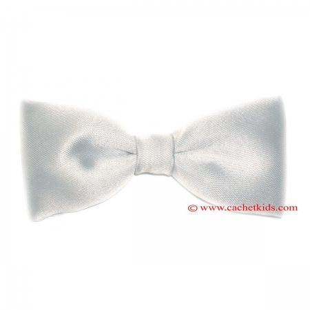 Boys Silver Bow Tie 6m To 12yrs