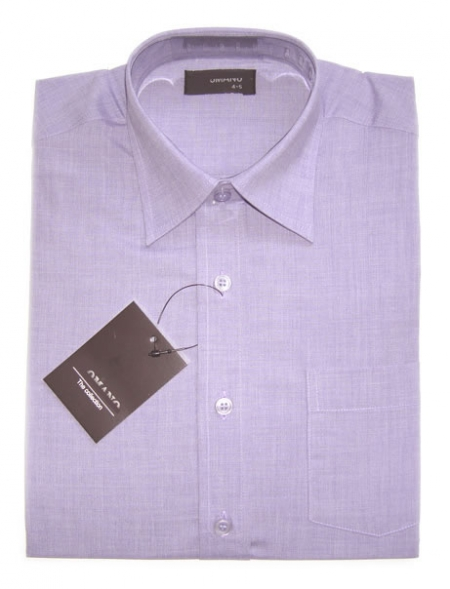 SALE Boy formal dress shirt cotton in two tones lilac