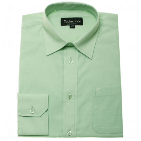 Boys Green Shirt In Light Green