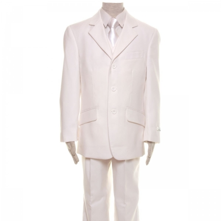 Premium Quality Boys White Suit 3 Piece