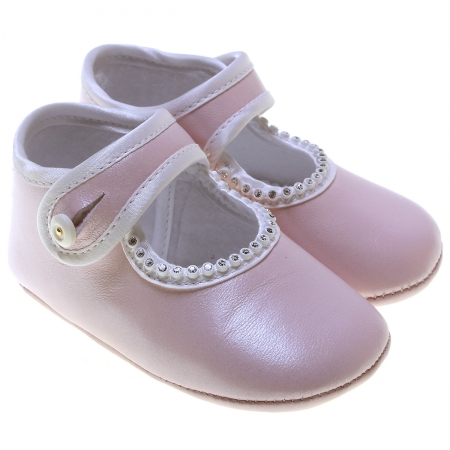 Baby Girl Pink Leather Cuquito shoes