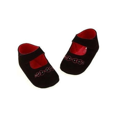 SALE Baby girl black velvet shoes from Cuquito shoes