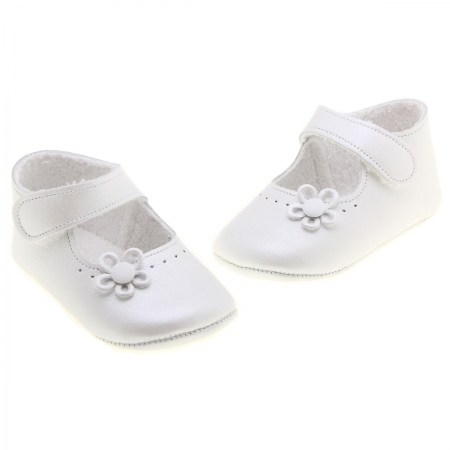 Soft Leather Baby Girls White Shoes