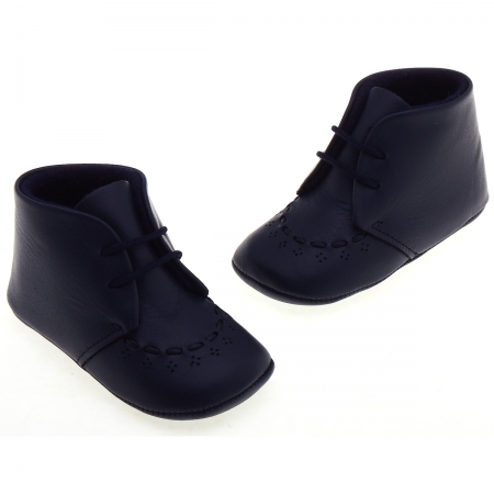 Baby Boys Navy Shoes Matt Leather