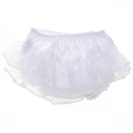 Organza Lace Baby Girls White Frilly Knickers