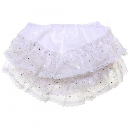 Baby Girls Sparkle Lace Frilly Panties