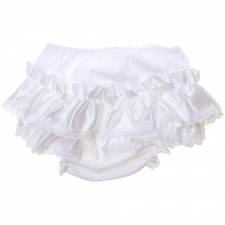 Baby Girls Satin Trim Frilly Panties