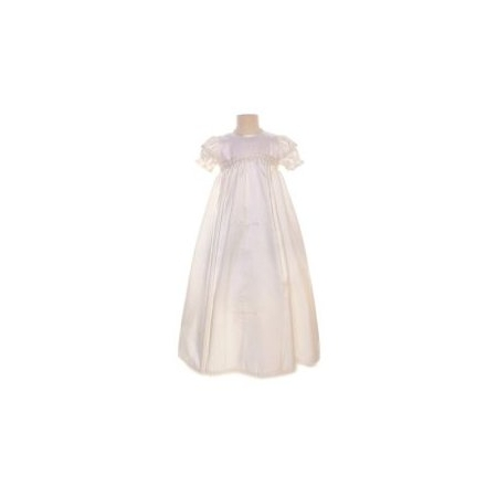 Satin Lace Girls Christening Gown