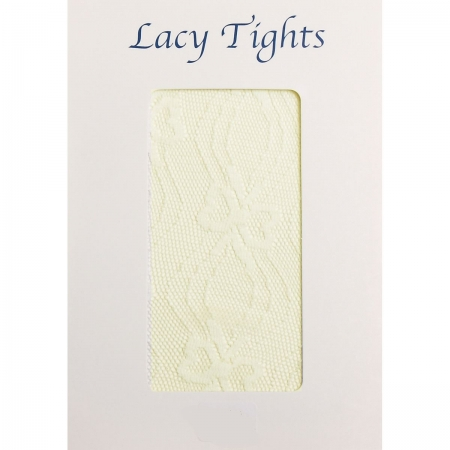 Baby Or Girls ivory lacy tights