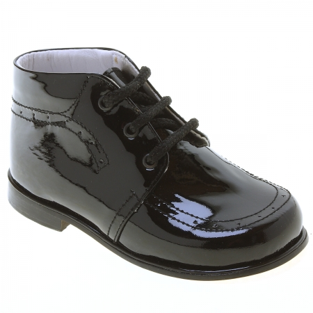 Boys Black Leather Patent Boots