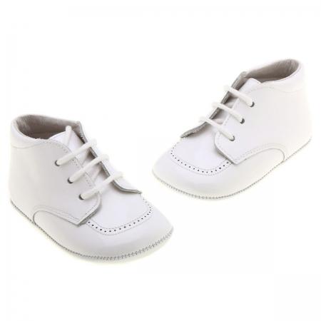 Lace up Baby Boys Traditional White Shoes