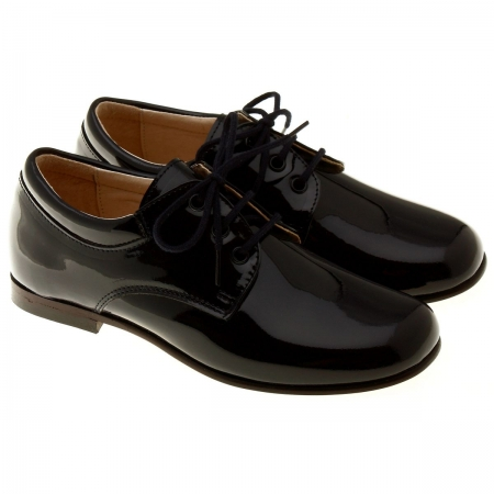 Premium Quality Boys Black Formal Dress Shoes in Leather