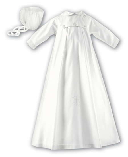 Sarah Louise Boys Ivory Silk Christening Gown