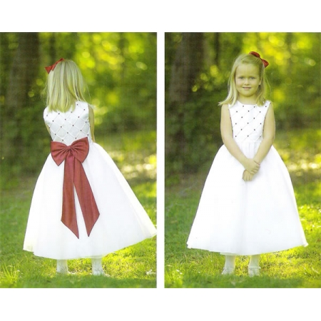 SALE Sarah Louise Ivory Dress With Beads Decoration