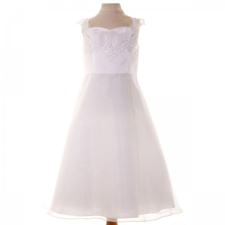 SALE Girls White Ballerina Dress