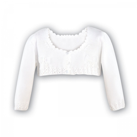 Sarah Louise girls white cardigan