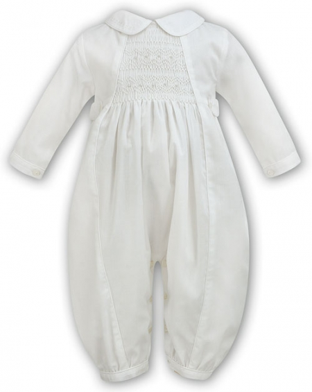Boys Christening Romper Outfit In Ivory Style 219