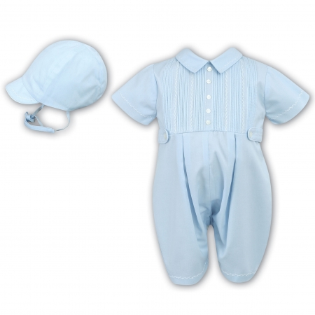 Baby Boys Blue Outfit With Cap From Sarah Louise