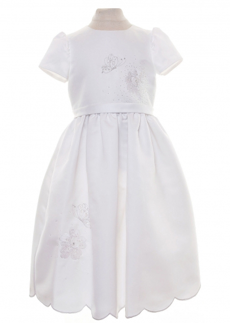 Sarah Louise Communion Dress SALE Butterfly Sequins Size 6 Years