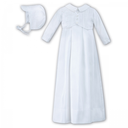 Sarah Louise Baby Boys White Christening Baptism Gown