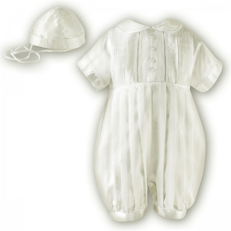 Boys Ivory Christening Outfit Silk Like From Sarah Louise