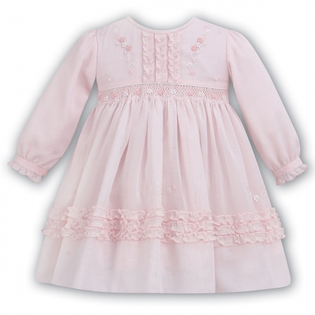 Beautiful Baby Girls Pink Smocked Dress By Sarah Louise