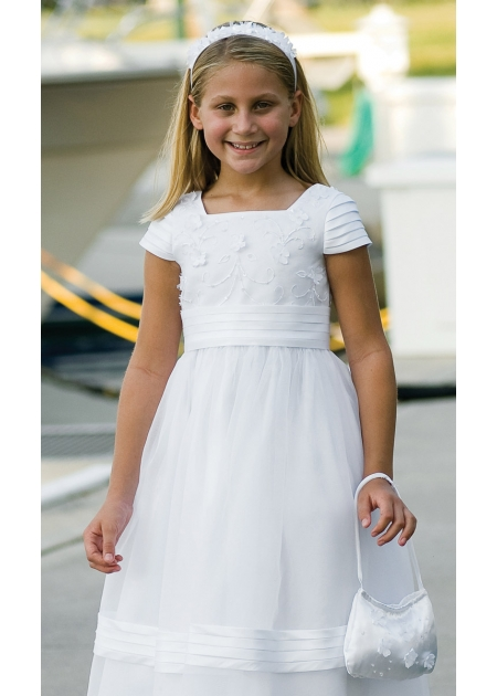 First Holy Communion Dress With Dolly Bag And Alice Band