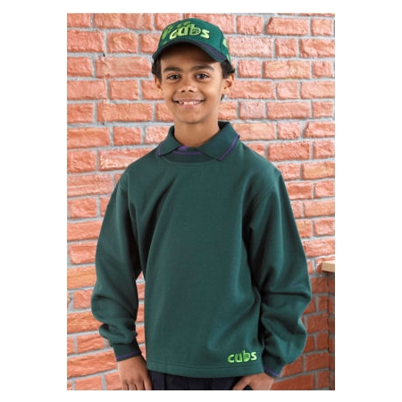 Cubs Tipped Sweatshirt In Dark Green