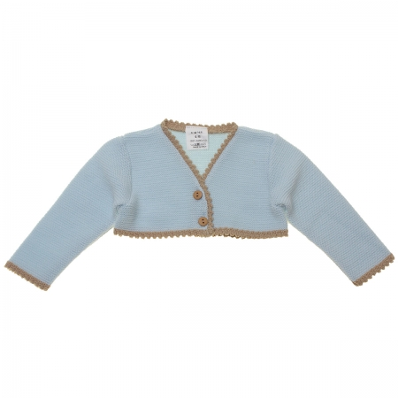 Baby Girls Blue Caramel Bolero