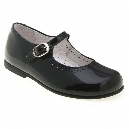 Girls Black Patent Shoes Leather Mary Jane Style